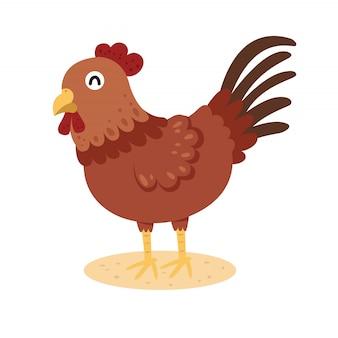 Ilustrador de dibujos animados de pollo