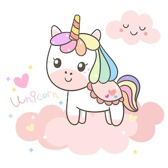 Ilustrador de dibujos animados de unicornio.