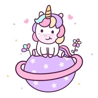 Ilustrador del lindo unicornio.