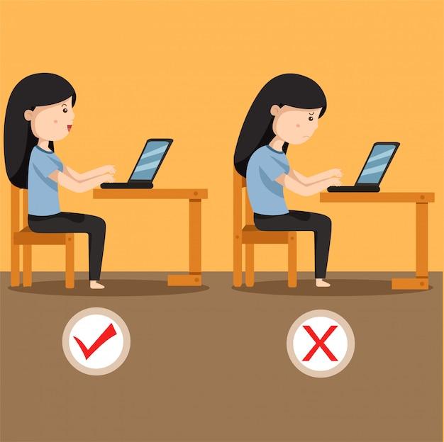 Ilustrador de mujeres sentadas en posición dos.