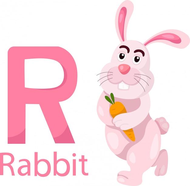 Ilustrador de r con conejo.