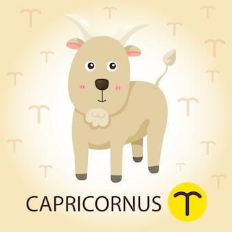 Ilustrador del zodiaco con capricornianos.
