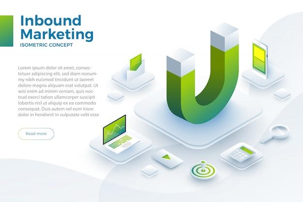 Ilustrar el marketing entrante