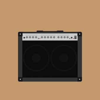 Imagen del amplificador combinado de guitarra, ilustración de estilo