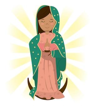 Imagen de bendición de la virgen maría católica bendiga