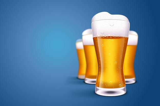 Imagen de cerveza borrosa
