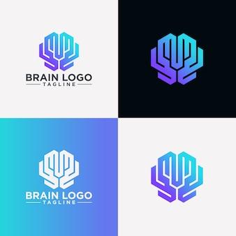 Imagen creativa del logotipo del cerebro