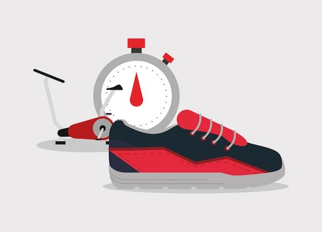 Imagen de los iconos relacionados con estilo de vida fitness