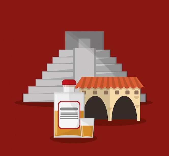 Imagen de los iconos relacionados con la cultura mexicana