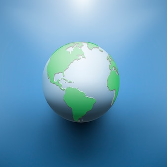 Imagen digital de la tierra del globo.