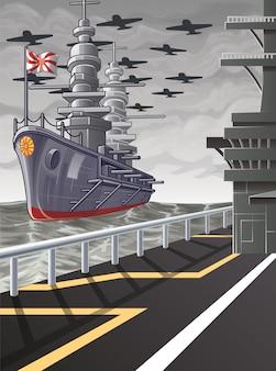 Esta imagen es una guerra mundial vectorial.