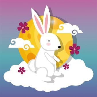 Imagen del festival de la luna feliz del conejo