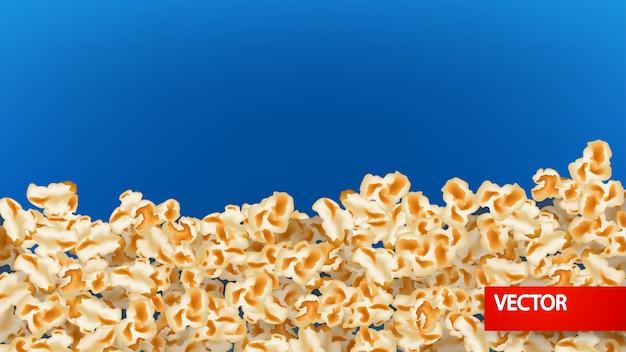 Imagen de fondo de palomitas de maíz