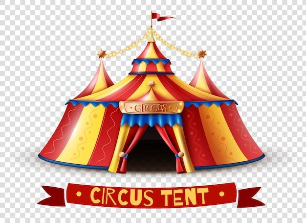 Imagen de fondo transparente de carpa de circo