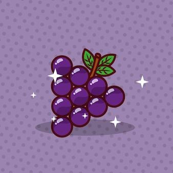 Imagen fresca de dieta de nutrición de uvas
