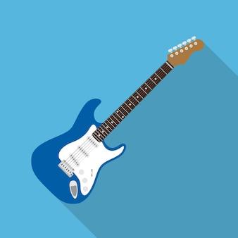 Imagen de guitarra eléctrica, ilustración de estilo