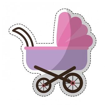 Imagen de icono de cochecito de bebé