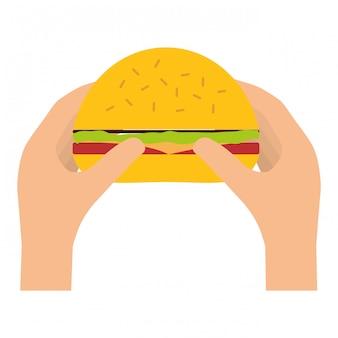 Imagen de icono de comida rápida