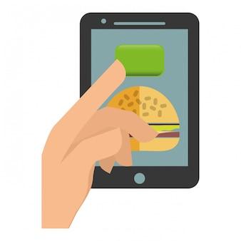 Imagen de icono de entrega de alimentos