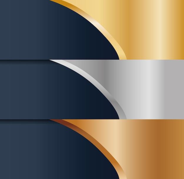 Imagen de icono de metales de bronce plata abstracta de oro