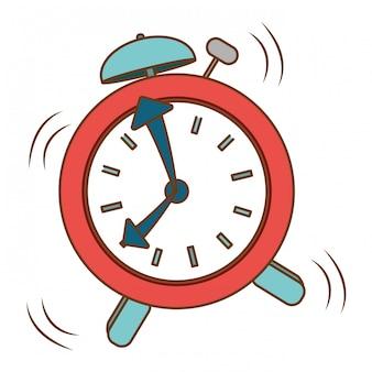 Imagen de icono de reloj de alarmas rojas