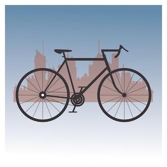 Imagen de iconos relacionados con bicicleta y ciclismo.