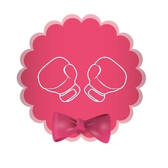 Imagen de los iconos relacionados con la conciencia del cáncer de mama