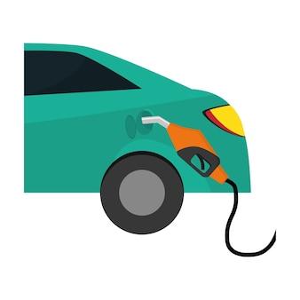 Imagen de los iconos relacionados con la industria del petróleo o la gasolina.