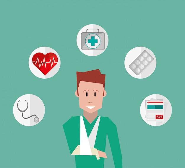 Imagen de los iconos relacionados con los servicios de seguros
