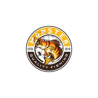Imagen de logotipo de pesca vintage