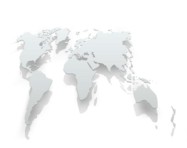 Imagen del mapa del mundo de papel.