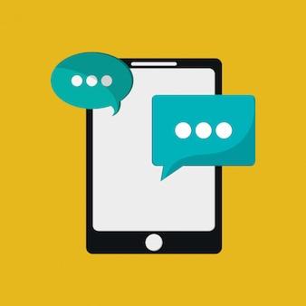 Imagen de mensaje de teléfono móvil