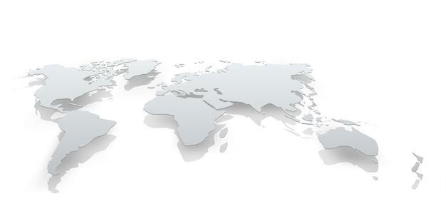 Imagen de papel de mapa del mundo. la ilustración del concepto