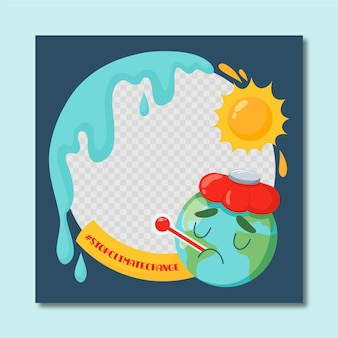 Imagen de perfil cambio climático marco de facebook