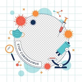 Imagen de perfil coronavirus marco de facebook