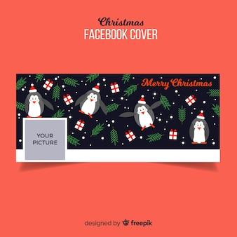 Imagen de portada de facebook con diseño de navidad