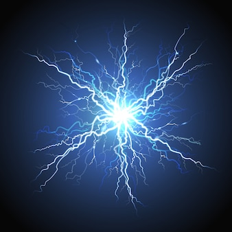 Imagen realista del rayo eléctrico starburst