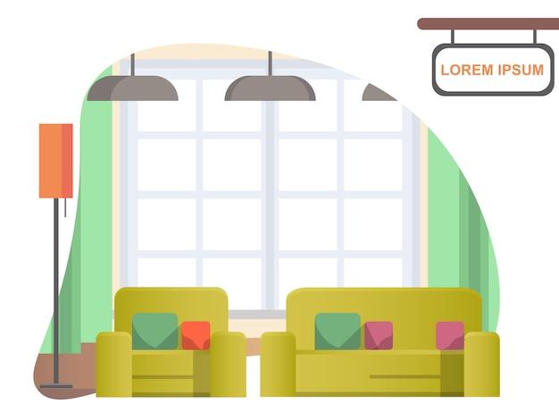 Imagen sala de estar en casa. interior de la casa acogedora
