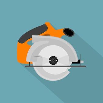 Imagen de sierra circular, icono de estilo