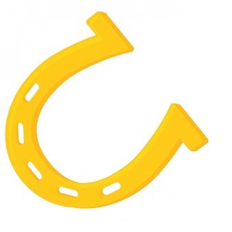 Imagen de un solo icono de herradura