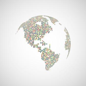 Imagen tecnológica del globo