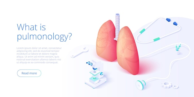 Imagen del tema de neumología con el médico analizando los pulmones en el monitor