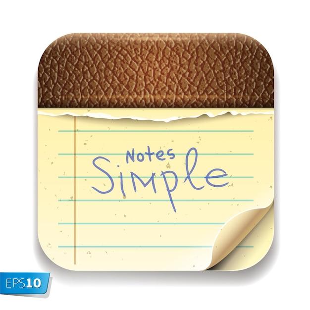 Imagen vectorial de bloc de notas