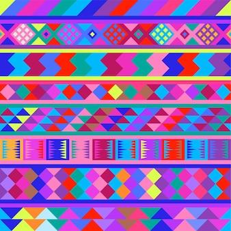 Imagen vectorial de patrones peruanos sin fisuras