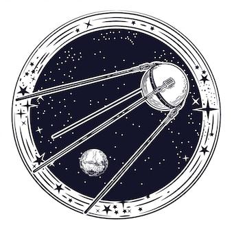 Imagen vectorial del satélite.