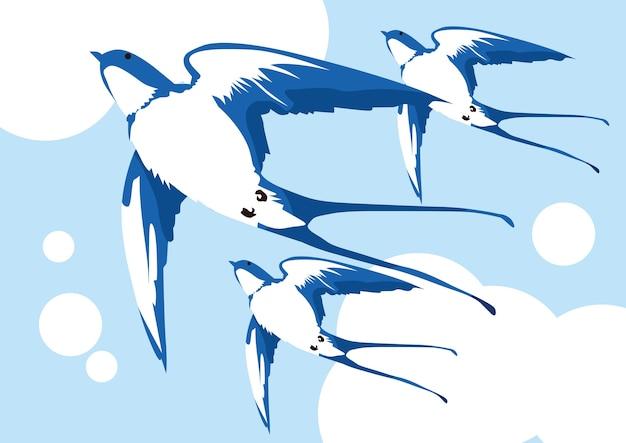 Imágenes de ilustración de aves para redes sociales
