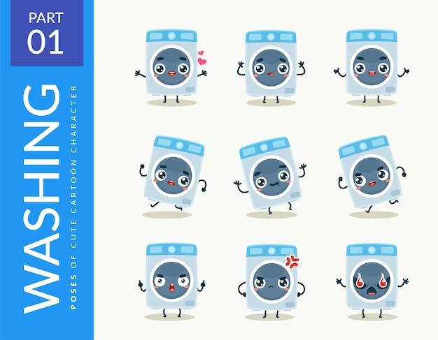 Imágenes de la mascota de la lavadora. colocar.