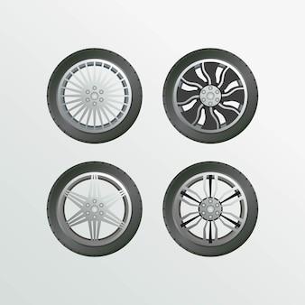 Imágenes de velg car set object collection car wheel