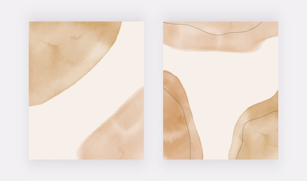Impresión de arte de mediados de siglo neutro geométrico abstracto, decoración boho, impresión moderna escandinava