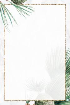 Impresión de arte de vector de marco de árbol de pino de navidad, remezcla de obras de arte de megata morikaga